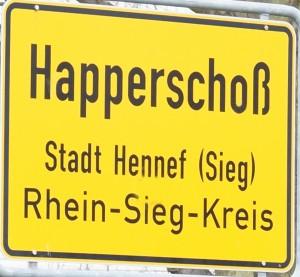 Schild Happerschoß